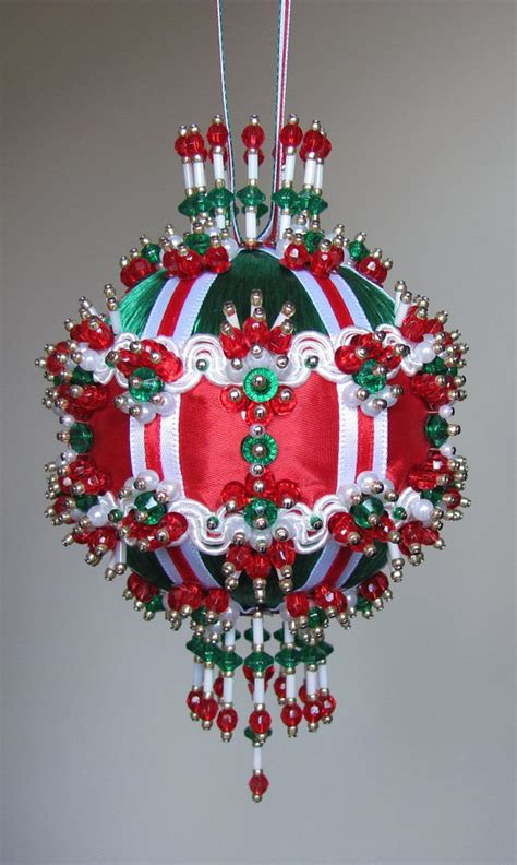 beaded christmas ornament kit river queen by glimmertree