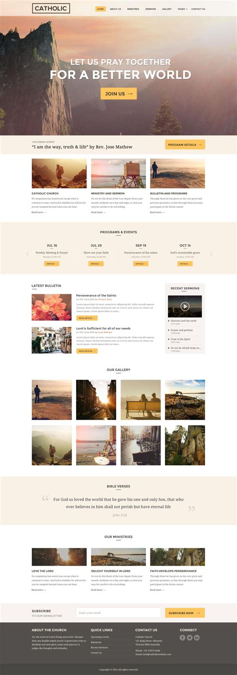 Church Website Template Responsive Our Church By Surjithctly Themeforest Responsive Church Website Templates