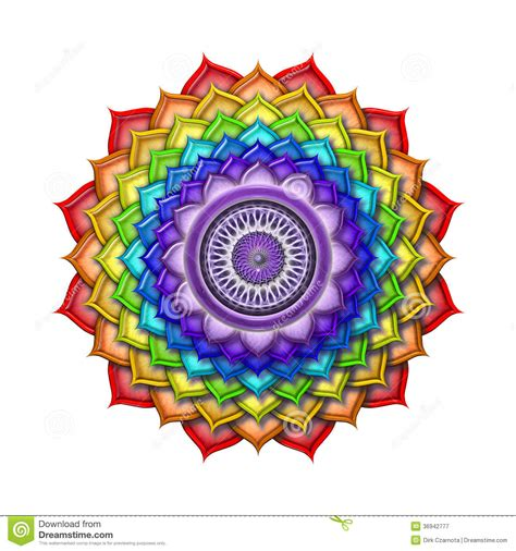 crown chakra rainbow colors isolated royalty  stock
