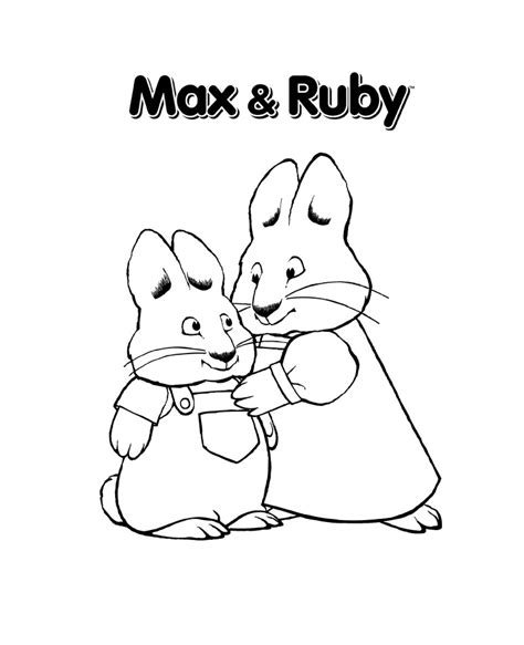 nick jr coloring pages max and ruby max and ruby coloring pages print movies and tv show