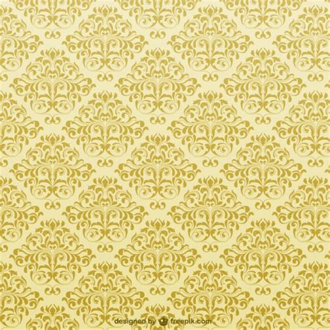 yellow royal pattern yellow ornamental background vector free download