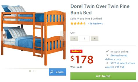 Walmart Canada Bunk Beds Bunk Beds Canadian Tire My
