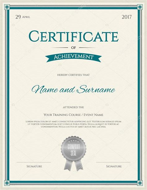 guarantee certificate template image collections