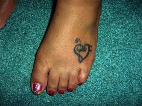 heartbeat tattoo on foot music note heart tattoo on left foot tattooshunt com