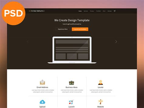 flat multipurpose template psd freebiesbug