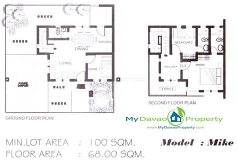 Subdivision Floor Plan | the prestige subdivision cabantian davao city mike model two storey