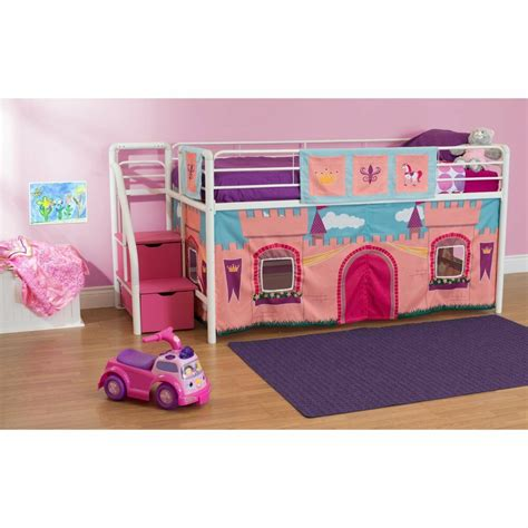 Castle Loft Bed by Pink Princess Castle Bunk Bed Loft W Steps