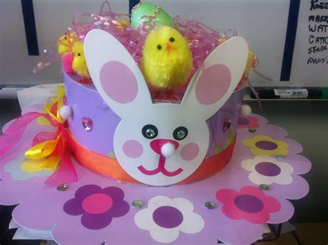 How To Make A Paper Easter Bonnet - easter bonnet ideas the organised
