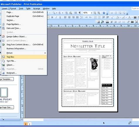 Best Photos Of Newspaper Template Publisher Microsoft Microsoft Publisher Newspaper Template Free