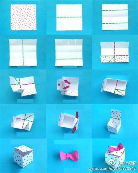 simple origami box diagrams tutorial cards and packaging