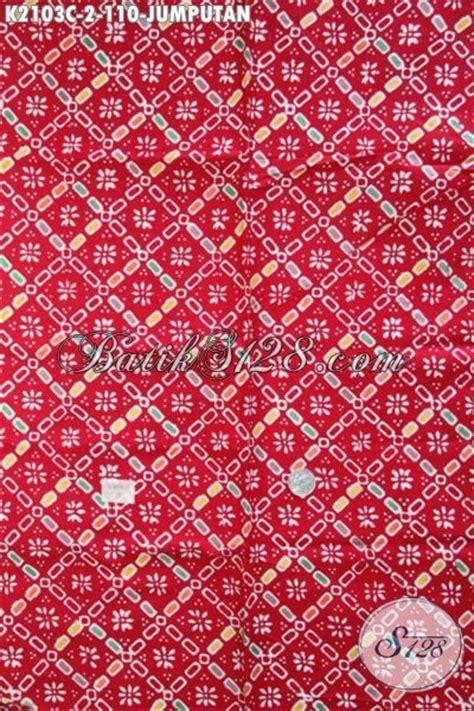 Kain Jumputan Dan Batik Printing modis dan elegan batik merah motif jumputan model