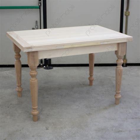 tavoli allungabili in legno massello prezzi tavolo allungabile grezzo in legno massello pratelli mobili