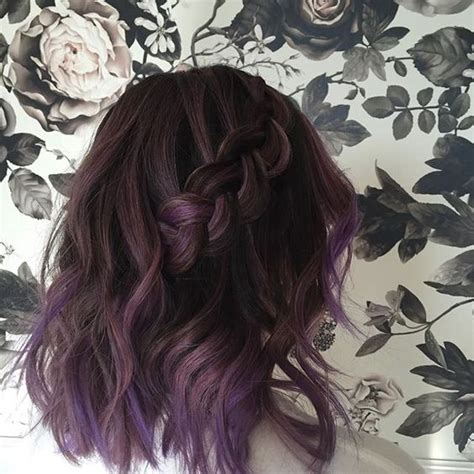 dusty purple 35 bold and provocative dark purple hair color ideas
