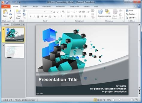 Solve 3d Cube Puzzle Templates For Powerpoint Powerpoint Templates 3d