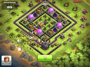 Clash of clans town hall 9 farm layout youtube
