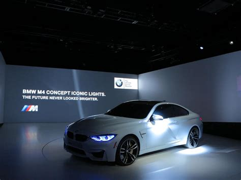 bmw m4 headlights bmw unveiled the m4 concept iconic lights youwheel com