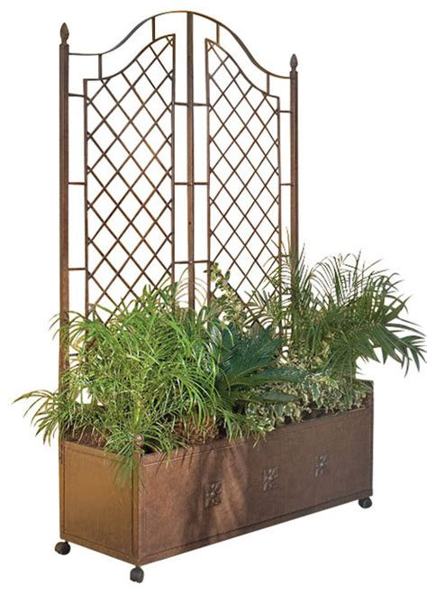 planter trellis traditional outdoor pots and planters