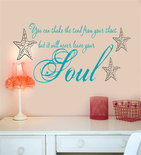 Wood Wall Decor Sayings Beach Wall Decals Decor You Can Shake The Sand From Your