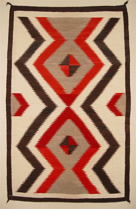 Design A Rug by Bold Serrated Lightening Pattern Navajo Rug For Sale