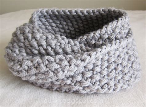 knitting circle purllin december seed stitch infinity circle scarf free