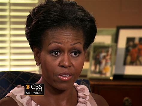 obama without wig cbs evening news with scott pelley michelle obama on