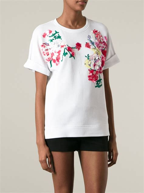 Embellished Shirt p a r o s h embellished t shirt in white lyst