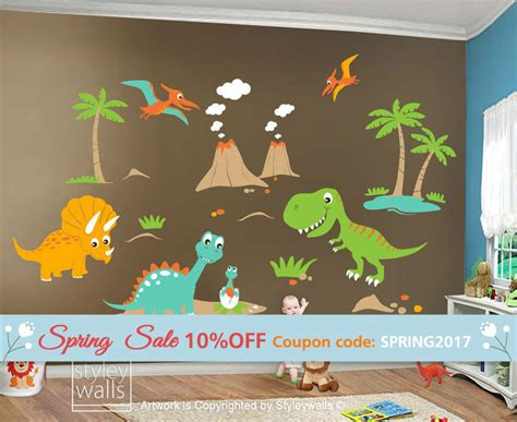 dinosaurs wall stickers wall decal ideas dinosaur decals for walls