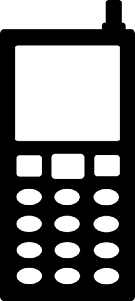 Black Cell Phone Silhouette - Free Clip Art