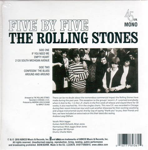 rolling stones 100 immortals and the rock and roll hall vinyl shop rolling stones five by five ep mono