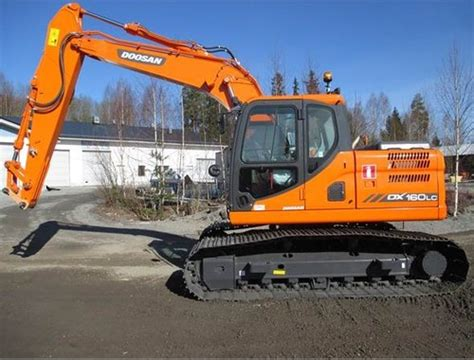 doosan daewoo dx160lc excavator parts manual