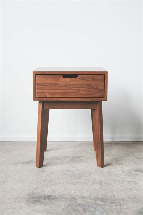 bed side ventura nightstand bedside table solid walnut tapered