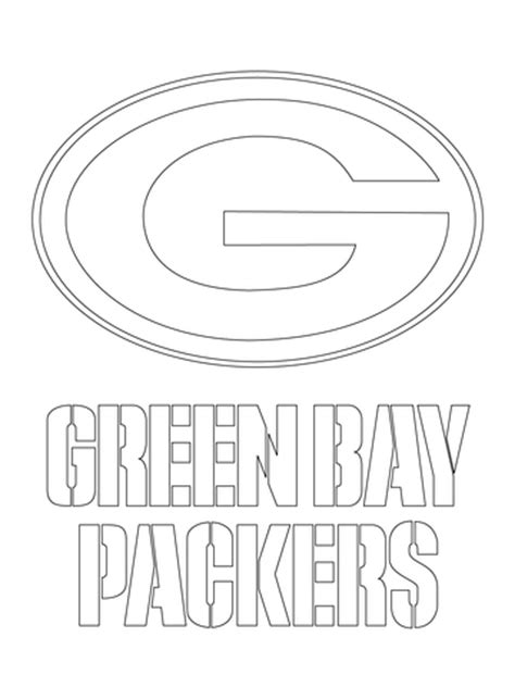 Green Bay Packers Logo Coloring Page Green Bay Coloring Pages