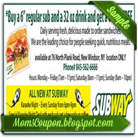 printable subway coupons march 2015 1000 images about online coupons 2015 on pinterest ihop
