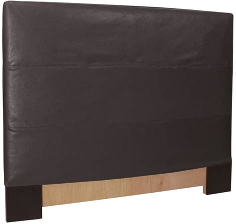 headboard slipcover black faux leather twin headboard slipcover 122 194