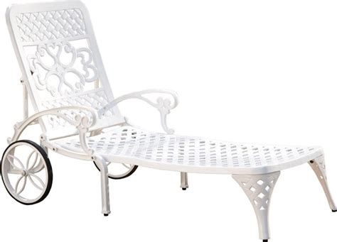 outdoor chaise lounge with wheels home styles biscayne outdoor chaise lounge chair with wheels