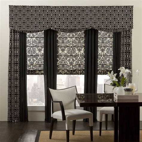 black patterned roman blind 298 best images about drapes roman shades for the home