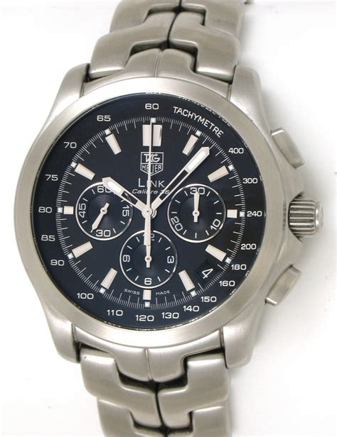 Tagheuer Cal 36 Black tag heuer link chronograph calibre 36 ct511a