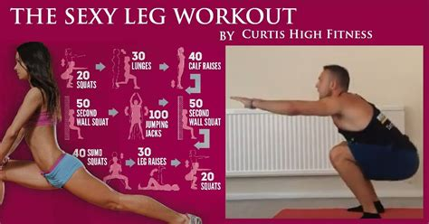 toned leg workout at home no equipment curtis