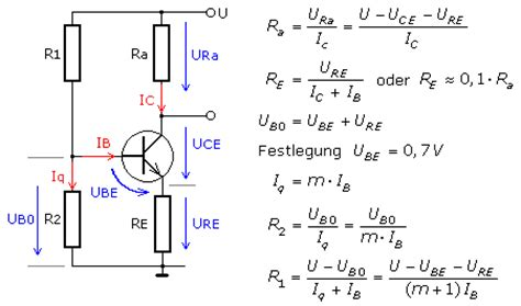 bipolar transistor berechnen transistorverst 228 rker in emitterschaltung strom und spannungsgegenkopplung