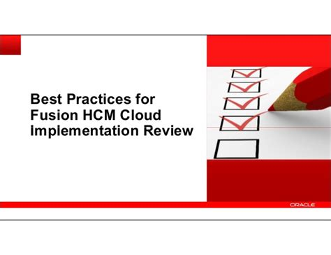 Top Mba Hcm by Best Practices For Fusion Hcm Cloud Implementation