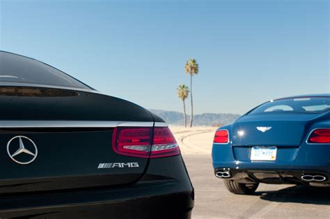 bentley mercedes 2014 bentley continental gt v8 s vs 2015 mercedes benz