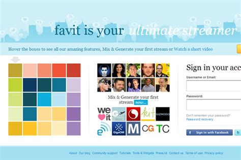 layout social network 50 inspirational web 2 0 websites and social networks