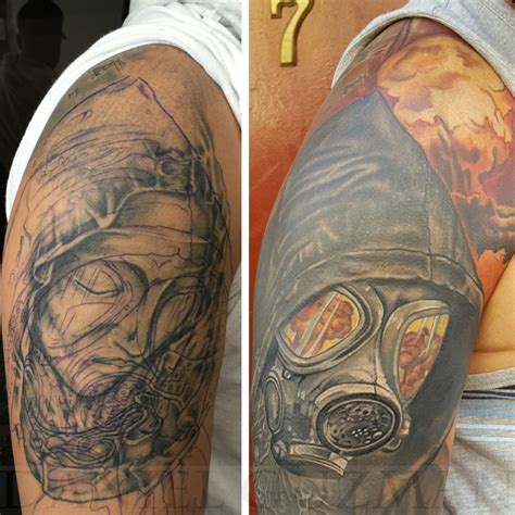 tattoo fixers gas mask cover up danielguzmantattoos before and after cover up cover up gas