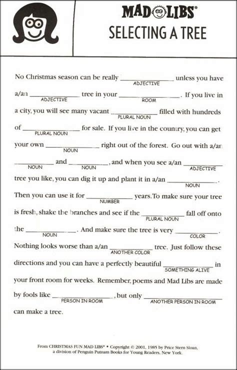printable christmas mad libs 7 best images of printable mad libs for adults adult