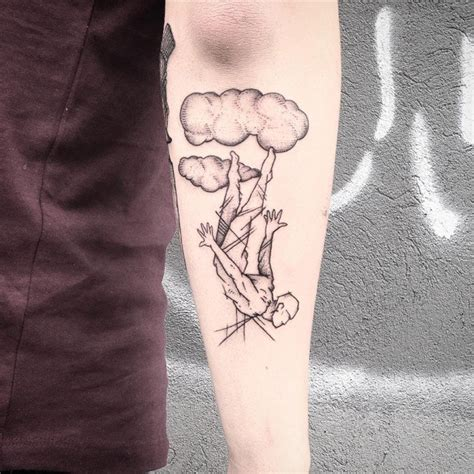 small cloud tattoo cloud tattoos for ideas and designs for guys