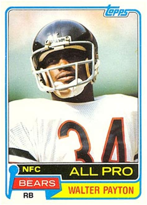 football cards value 1981 topps walter payton 400 football card value price guide