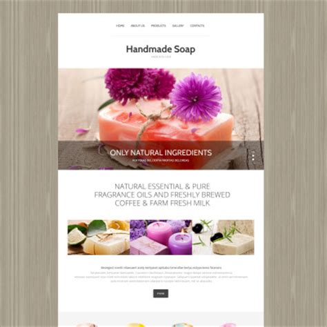 Handmade Soap Websites - crafts templates hobbies templates templatemonster