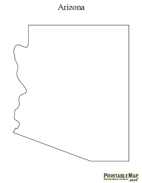 printable map arizona printable map of arizona state map of arizona