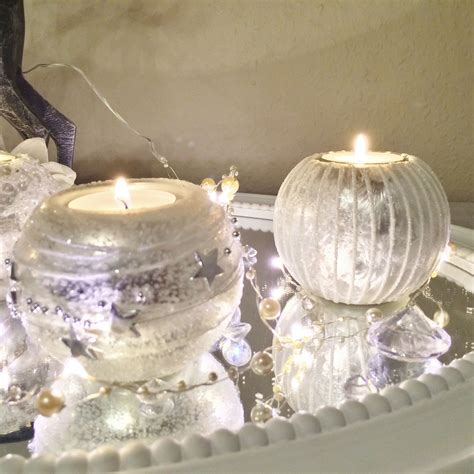 kerzenhalter glas rund 4er set teelichthalter glas silber kerzenhalter