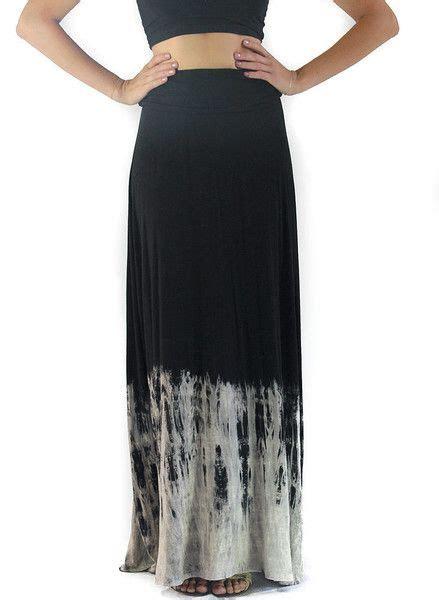 black tie dye maxi skirt
